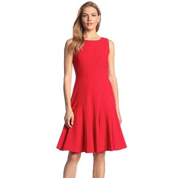 Calvin Klein Dresses & Skirts - Calvin Klein Dress Red Fit and Flare Midi NWT
